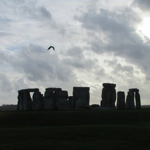 Stonehenge with Bird in Flight